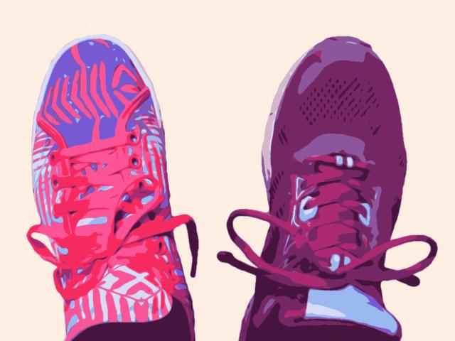 Trainingsschuh und Laufschuh