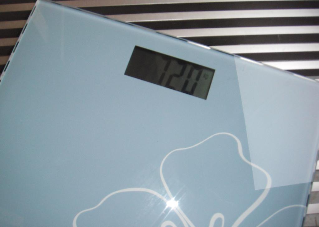 Körperwaage mit Gewichtsanzeige
